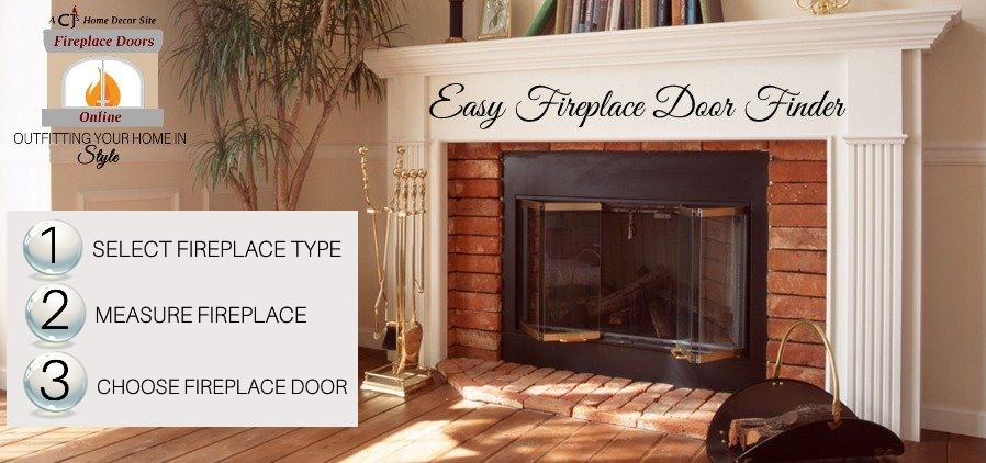 Easy fireplace door finder!