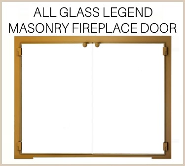 The All Glass Legend offers an impressive view for your masonry fireplace. Buy now!