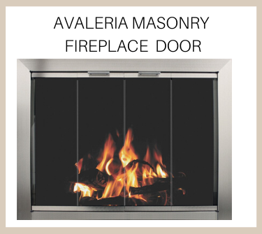 Get the Aveleria masonry fireplace door today - buy now!