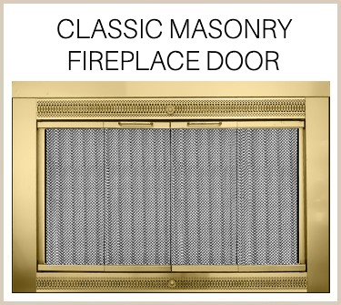 The name says it all! Buy the Classic masonry fireplace door today!