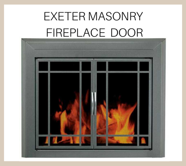 Exeter glass door for masonry fireplaces - buy now!