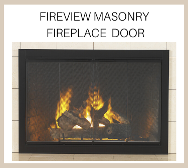 Buy the matte black fireview masonry fireplace door today!