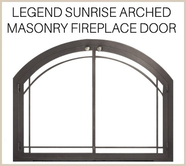 The Legend Sunrise arched masonry fireplace door - buy it now!