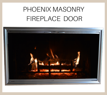 The Pheonix masonry fireplace door makes a grand statement. Buy now!