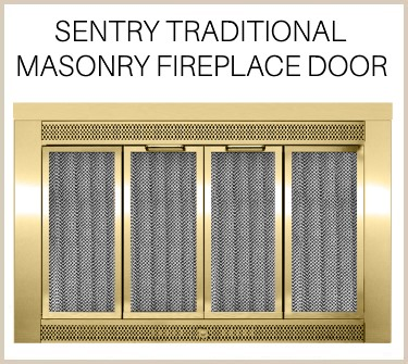 The Sentry Traditional masonry fireplace door makes a grand statement. Buy now!