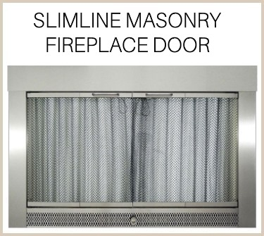 The elegant Slimline Masonry Fireplace Door - buy now!