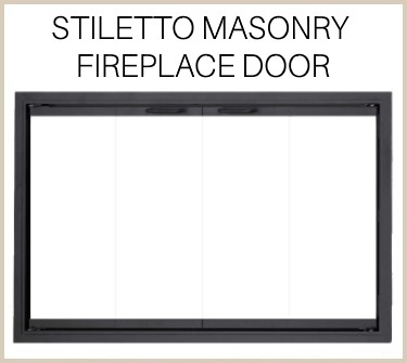 Upgrade in style with the Stiletto replacement fireplace door for masonry fireplaces! Buy now!