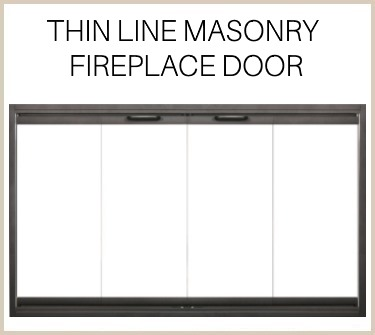 Barely there frame! The Thin Line replacement fireplace door is a minimalist's dream - buy now!