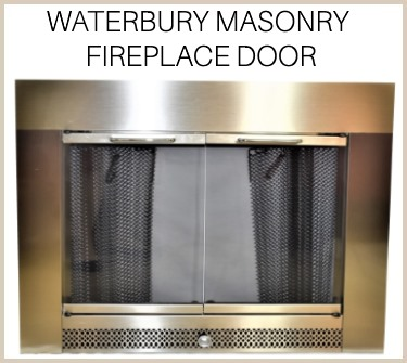 Get the Waterbury masonry fireplace door today - buy now!