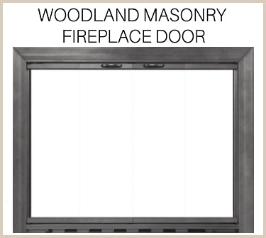 "Get the ""great outdoors"" look with the Woodland Masonry Fireplace Door. Buy now!"