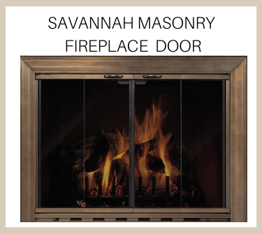 Get the Savannah masonry fireplace door today - buy now!