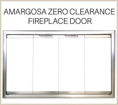 The Amargosa prefab fireplace door features a satin nickel finish - buy now!