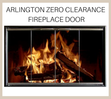 The Arlington Zero Clearance Fireplace Door is heat resistant and durable!