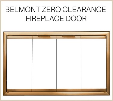 Beautiful antique brass finish on the Belmont zero clearance fireplace door. Buy now!