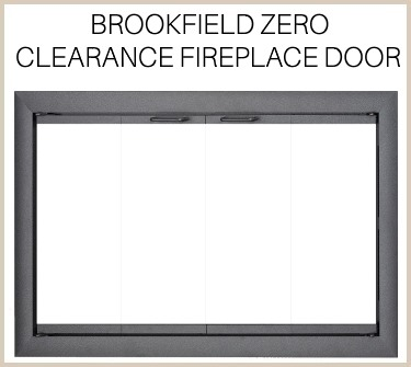 The overlap fit Brookfield prefab fireplace door is a solid aluminum enclosure. Buy now!
