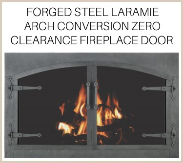 Strap hinges and handles on the Forged Steel Laramie arch conversion prefab door. Buy it now!