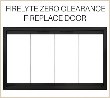 Firelyte zero clearance fireplace door is totally customizable! Buy it now!