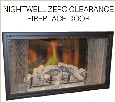 Nightwell prefab fireplace door in matte black - buy now!