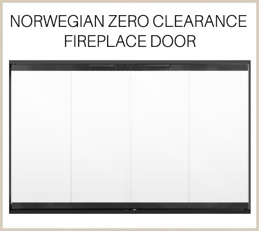 Minimal frame - optimal view! Norwegian prefab fireplace door - buy it now!