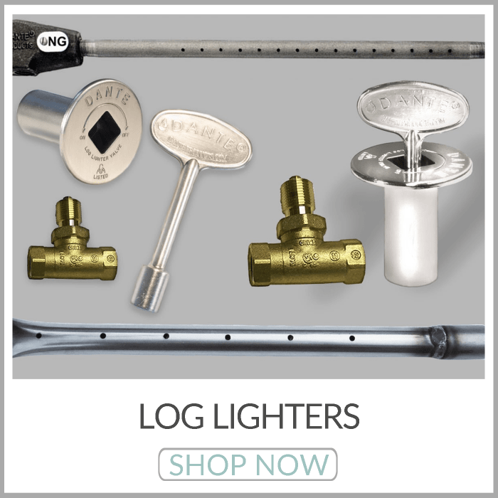 Log Lighters | Universal Gas Valve Keys | Escutcheons | Gas Valve Kits