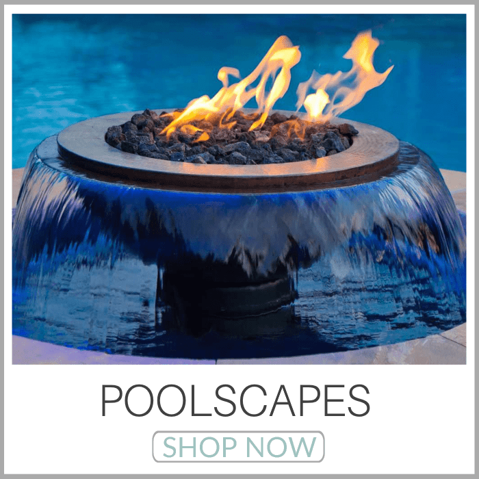 Poolscapes | Pool Fire Bowls | Scupper Bowls | Copper Pool Fire Bowls | Stainless Steel Pool Fire Bowls | 360 Fire And Water Features | Pool Scuppers | Fire On Water Manifolds