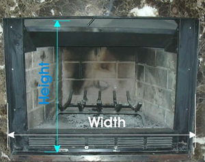 Some pre-fab fireplaces, like this one, have to be measure totally different than others.