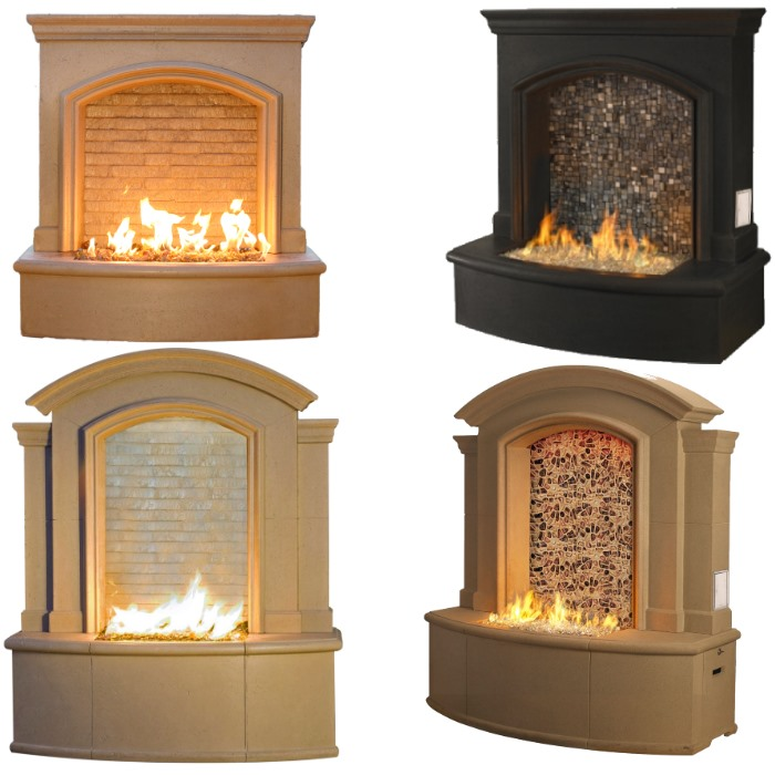 Small and Large Firefalls by American Fyre Designs