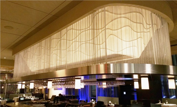 Eddie V's envisioned and created this stunning ceiling treatment!