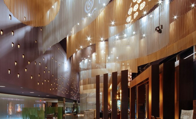 The ceiling treatment at The Salt Ultra Lounge in the Ipic Theater (Scottsdale, AZ) is awe inspiring!