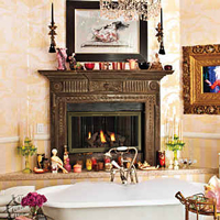 Christina Aguilera's fireplace doors replaced with the Belmont from Fireplace Doors Online
