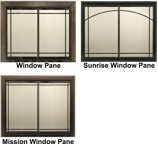 Would you like one of these optional designs on your fireplace refacing?