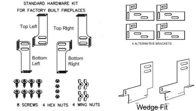 mounting brackets