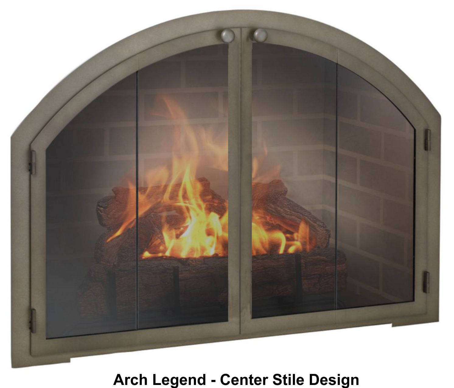 legend arched fireplace door