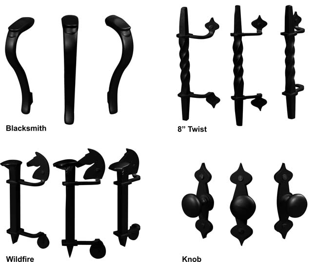 Which type of handle would you like for your fireplace door?