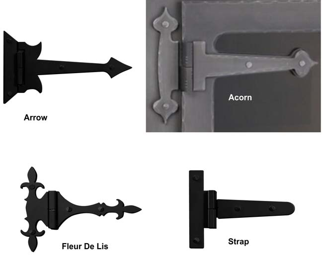 What type of hinge would you like on your door?