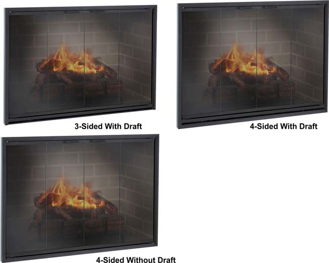Select what type of damper you'd like for your masonry fireplace door.