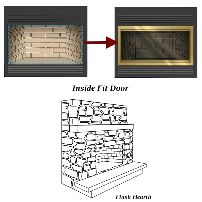 Inside Fit ZC Door With  Flush Hearth