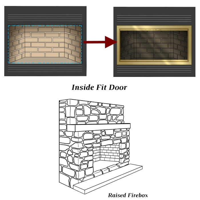 Inside Fit ZC Door With Raised Hearth