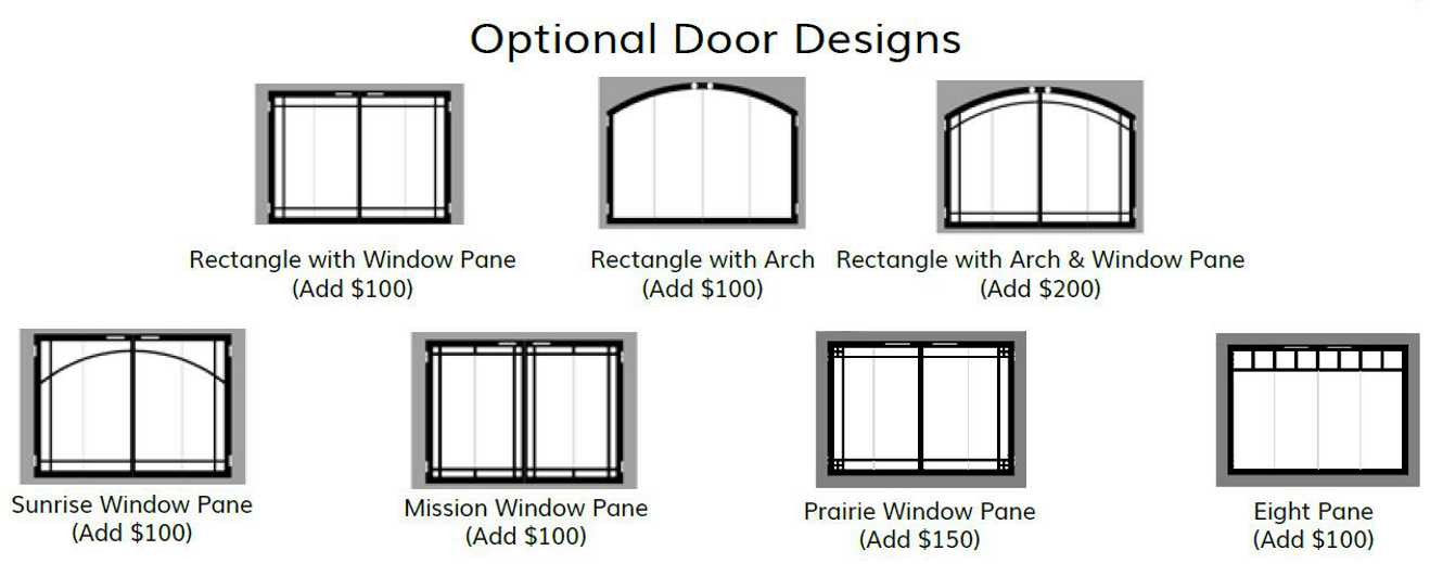 Optional Legend Fireplace Door Designs