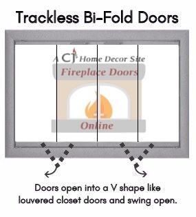 Trackless Full Swing Bi-Fold Doors