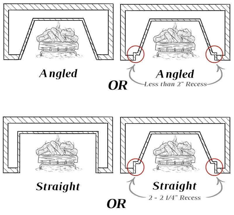 Angled or Straight-On Fireboxes