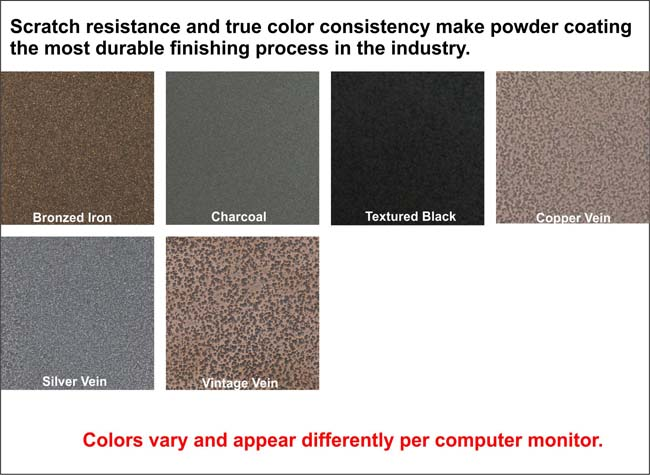 Select finish color for your fireplace doors