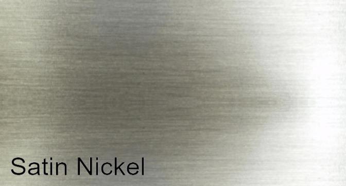 Satin nickel finish for Hearthfire masonry fireplace door