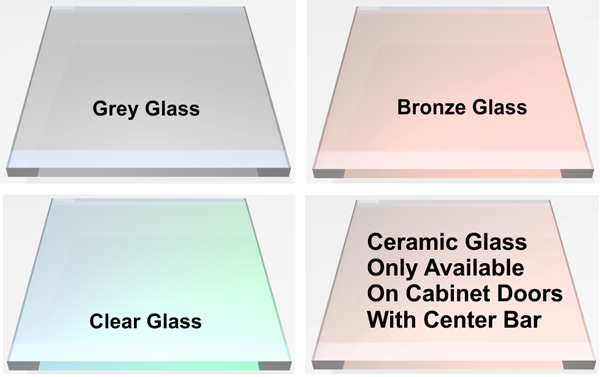 Glass color for your glass fireplace doors?