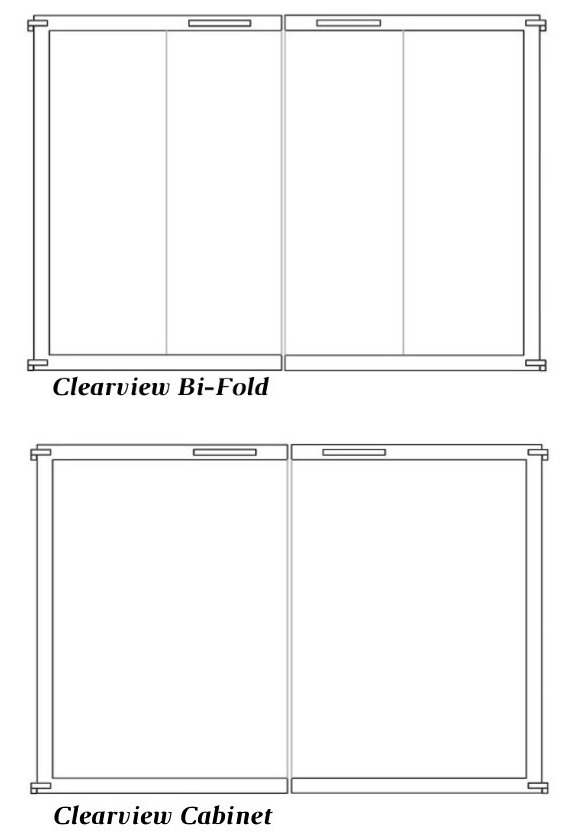 Choose either bi-fold or cabinet doors