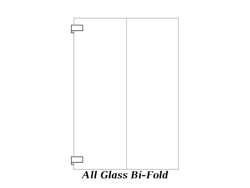 Bi-fold All Glass cabinet door