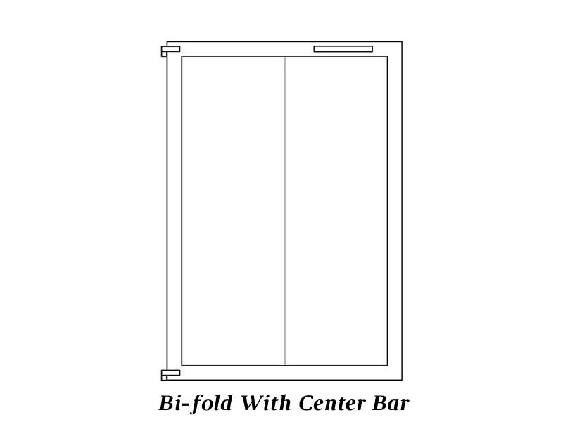 Bi-fold Center Bar doors
