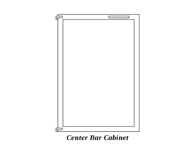 Cabinet Center Bar doors