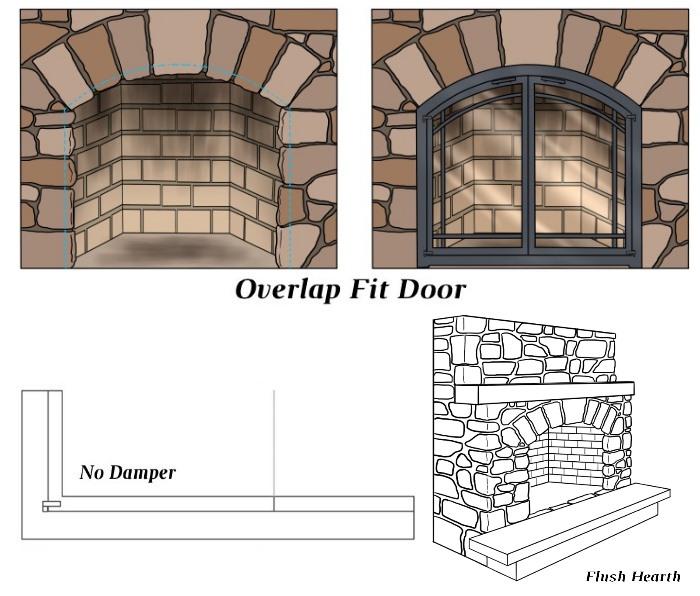 Overlap Fit - No Damper - Flush Hearth