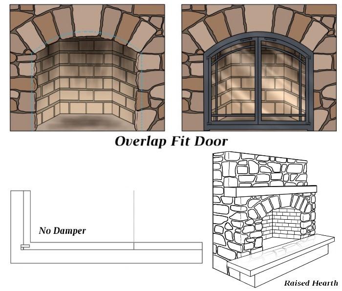 Overlap Fit - No Damper - Raised Hearth